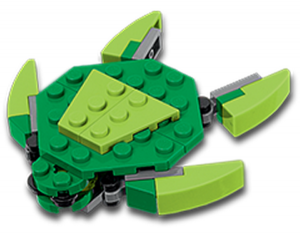 Lego-Sea-Turtle-Mini-Build