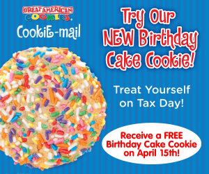 Free Birthday Cake Cookie 4 15 Great American