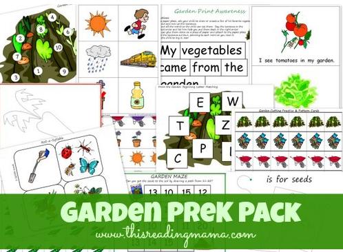 garden prek pack