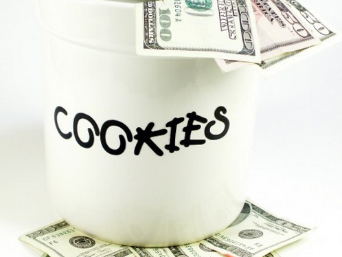 cookie jar of money