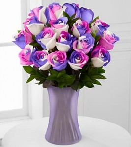 Flowers and coffee for Can you get purple roses