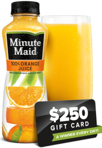 Free $250 VISA Gift Cards From Minute Maid