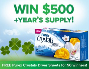 free-purex-crystals-dryer-sheets-giveaway